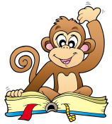 cute-monkey-reading-book-17502556